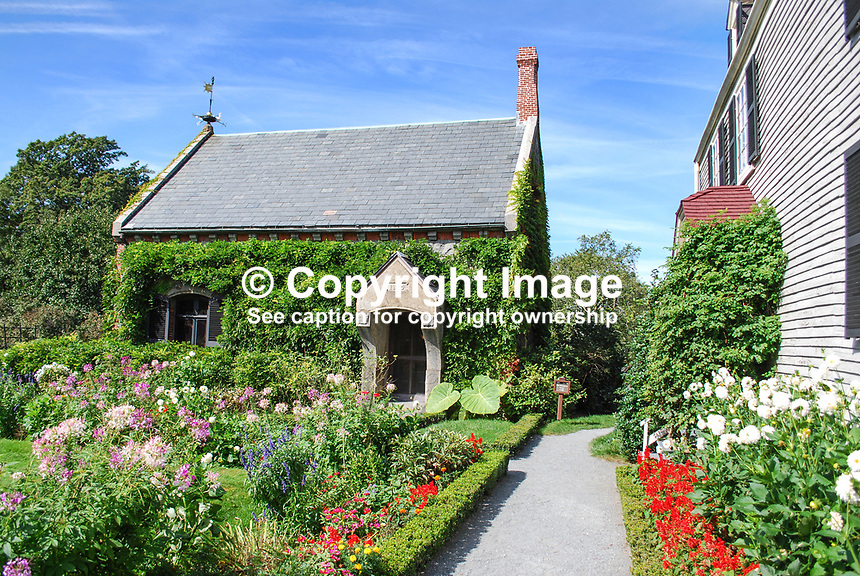 """The library which John Adams had build at the the side of the """"Old House"""" the property at Peace Field, near Quincy, Massachussets, where the future vice president and later president and his wife, Abigail, lived following their period in France, Holland and England.  201110074916..Copyright Image from Victor Patterson, 54 Dorchester Park, Belfast, United Kingdom, UK...For my Terms and Conditions of Use go to http://www.victorpatterson.com/Victor_Patterson/Terms_%26_Conditions.html"""