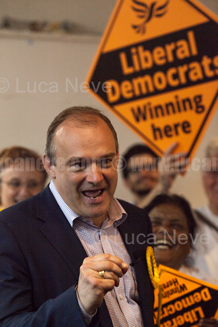 Ed Davey (Liberal Democrat politician, former Member of Parliament for Kingston and Surbiton from 1997 to 2015; Former Secretary of State for Energy and Climate Change from 2012 to 2015 in the Conservative-Liberal Democrat coalition Government).<br /> <br /> Norbiton (England), 01/06/2017. Today, Tim Farron (Leader of the Liberal Democrats), Nick Clegg (Liberal Democrats politician and Former British Deputy Prime Minister of the Coalition Government 2010-2015 - Conservative Party and Liberal Democrats), Sarah Olney (Former Liberal Democrats Member of Parliament for Richmond Park, she will contest the same seat in the 2017 general election) and Ed Davey (Liberal Democrat politician, former Member of Parliament for Kingston and Surbiton from 1997 to 2015; Former Secretary of State for Energy and Climate Change from 2012 to 2015 in the Conservative-Liberal Democrat coalition Government) visited Kingston Hospital to meet and discuss with representatives of the EU national staff of the hospital which created the &quot;Brexit Support Group&quot;. The discussion was followed by a rally at the Shiraz Mirza Community Hall with members and supporters of the Liberal Democrats. <br /> <br /> For more information please click here: http://www.libdems.org.uk/manifesto<br /> <br /> For more information about the Hospital please click here: https://www.kingstonhospital.nhs.uk/