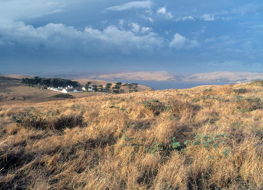 Historic Pierce Ranch at Tomales Bay, Point Reyes, California.