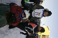 March 3, 2007   Eric Rodgers leaves the start line on 4th avenue during the Iditarod ceremonial start day in Anchorage