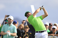 Justin Thomas (USA) on the 3rd tee during the 3rd round of the Waste Management Phoenix Open, TPC Scottsdale, Scottsdale, Arisona, USA. 02/02/2019.<br /> Picture Fran Caffrey / Golffile.ie<br /> <br /> All photo usage must carry mandatory copyright credit (© Golffile | Fran Caffrey)