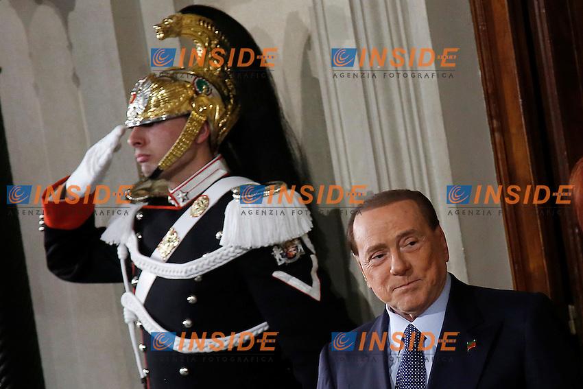 Silvio Berlusconi<br /> Roma 10-12-2016. Quirinale. Consultazioni <br /> Rome December 10th 2016. Quirinale. Consultation with the President of the Republic for a new Government<br /> Foto Samantha Zucchi Insidefoto