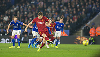 26th December 2019; King Power Stadium, Leicester, Midlands, England; English Premier League Football, Leicester City versus Liverpool; James Milner of Liverpool  scoring a penalty in the 71st minute - Strictly Editorial Use Only. No use with unauthorized audio, video, data, fixture lists, club/league logos or 'live' services. Online in-match use limited to 120 images, no video emulation. No use in betting, games or single club/league/player publications