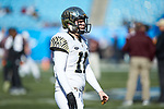Kyle Driscoll (11) of the Wake Forest Demon Deacons prior to the game against the Texas A&M Aggies at Bank of America Stadium on December 29, 2017 in Charlotte, North Carolina.  The Demon Deacons defeated the Aggies 55-52.  (Brian Westerholt/Sports On Film)