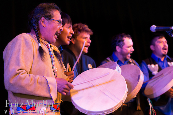 Adaka Cultural Festival 2016, Whitehorse, Yukon, Canada, Yukon First Nation Culture and Tourism Association, Kwanlin Dun Cultural Centre, Ross River Dena drummers