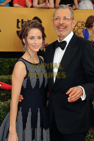 25 January 2015 - Los Angeles, California - Emilie Livingston, Jeff Goldblum. 21st Annual Screen Actors Guild Awards - Arrivals held at The Shrine Auditorium. <br /> CAP/ADM/BP<br /> &copy;BP/ADM/Capital Pictures