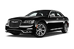 Stock pictures of low aggressive front three quarter view of 2017 Chrysler 300C Platinum 4 Door Sedan Low Aggressive