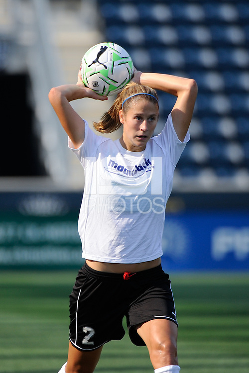 Marian Dalmy (2) of magicJack SC. The Philadelphia Independence defeated magicJack SC 2-0 during the Women's Professional Soccer (WPS) Super Semifinal at PPL Park in Chester, PA, on August 20, 2011.