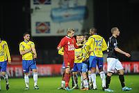 VOETBAL: LEEUWARDEN: Cambuur Stadion, 10-05-2012, SC Cambuur - VVV, Nacompetitie, Eindstand 0-0, Marco Bizot (#1), Oguzhan Türk (#14), Mark de Vries (#12), ©foto Martin de Jong