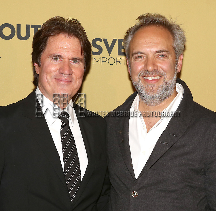 Rob Marshall and Sam Mendes  attending the Broadway Opening Night After Party for 'Cabaret' at Studio 54 on April 24, 2014 in New York City.