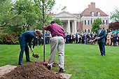 Prince Harry helps to plant a tree in the British Ambassador's Residence garden in recognition of U.S. and British wounded warriors, in Washington, D.C. on May 7, 2012.  .Credit: Kevin Dietsch / Pool via CNP