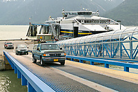 The Fairweather Fast Ferry, brought on line with Alaska Marine Ferry Fleet in June of 2004. Skagway, Alaska