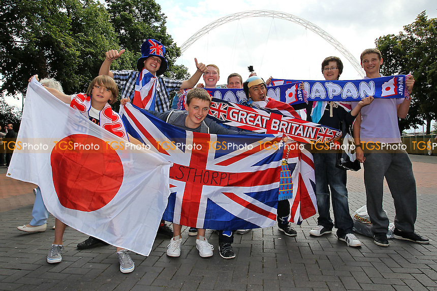 Japan and Team GB fans gather ahead of France Women vs Japan Women - Womens Olympic Football Tournament London 2012 Semi-Final at Wembley Stadium - 06/08/12 - MANDATORY CREDIT: Gavin Ellis/SHEKICKS/TGSPHOTO - Self billing applies where appropriate - 0845 094 6026 - contact@tgsphoto.co.uk - NO UNPAID USE.