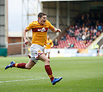 17.02.2019: Motherwell v Hearts: Jake Hastie celebrates his goal for Motherwell