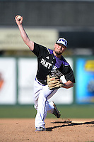 Kentucky Wesleyan Panthers pitcher David Murphy (31) during a game against Slippery Rock University at Jack Russell Stadium on March 14, 2014 in Clearwater, Florida.  Slippery Rock defeated 18-13.  (Mike Janes/Four Seam Images)