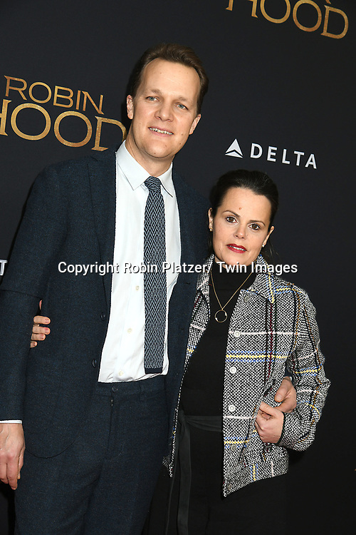 "Director Otto Bathurst and wife Lucinda Bathurst  attend the New York Special Screening of ""Robin Hood"" on November 11, 2018 at AMC Lincoln Square in New York, New York, USA.<br /> <br /> photo by Robin Platzer/Twin Images<br />  <br /> phone number 212-935-0770"