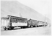 RGS special train prior to departure for baseball game in Ouray.<br /> RGS  Telluride, CO  Taken by Byers, Joseph E. - 8/9/1908