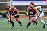 EASTON, MA - NOVEMBER 20:  Brooke Eiders (45) of Shippensburg University chases down a loose ball against  LIU Post during the NCAA Division II Field Hockey Championship at WB Mason Stadium on November 20, 2016 in Easton, Massachusetts.  Shippensburg University defeated LIU Post 2-1 for the national title. (Photo by Winslow Townson/NCAA Photos via Getty Images)