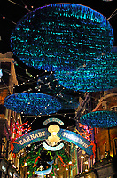 London's iconic Carnaby Street's Christmas lights are now switched on. This year they are Christmas lights with a difference and a message. In collaboration with Project Zero, they have used recycled materials to create a variety of endangered undersea creatures to highlight areas of our oceans most in need of conservation. London on November 14th 2019<br /> <br /> Photo by Keith Mayhew