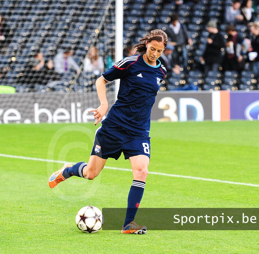 Uefa Women 's Champions League Final 2011 at Craven Cottage Fulham - London : Olympique Lyon - Turbine Potsdam : Lotta Schelin..foto DAVID CATRY / JOKE VUYLSTEKE / Vrouwenteam.be.