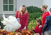 """Tiffany Trump and Ivanka Trump with """"Drumstick"""" after the ceremony where United States President Donald J. Trump and First Lady Melania Trump hosted the National Thanksgiving Turkey Pardoning Ceremony in the Rose Garden of the White House in Washington, DC on Monday, November 20, 2017.  According to the White House Historical Association, the ceremony originated in 1863 when US President Abraham Lincoln's granted clemency to a turkey. The tradition jelled in 1989 when US President George HW Bush stated """"But let me assure you, and this fine tom turkey, that he will not end up on anyone's dinner table, not this guy -- he's granted a Presidential pardon as of right now -- and allow him to live out his days on a children's farm not far from here.""""<br /> Credit: Ron Sachs / CNP"""