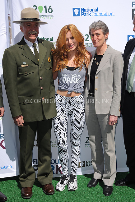 WWW.ACEPIXS.COM<br /> April 2, 2015 New York City<br /> <br /> Bella Thorne  and Secretary of the Interior Sally Jewell attending National Park Service kick off of the #FindYourPark public service campaign in honor of the milestone centennial anniversary of the National Park Service in 2016 on April 2, 2015 in New York City. <br /> <br /> By Line: Kristin Callahan/ACE Pictures<br /> ACE Pictures, Inc.<br /> tel: 646 769 0430<br /> Email: info@acepixs.com<br /> www.acepixs.com