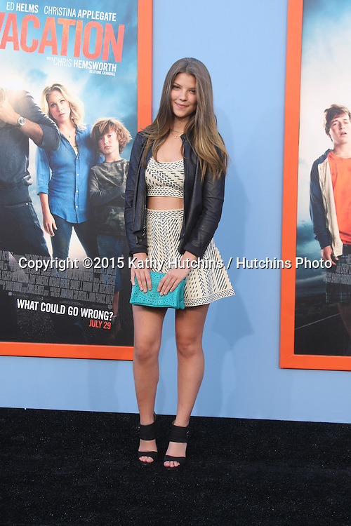 "LOS ANGELES - JUL 27:  Catherine Missel at the ""Vacation"" Premiere at the Village Theater on July 27, 2015 in Westwood, CA"