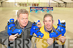 Killarney men Brian McGee and Tim O'Donoghue preparing the ice rink for the Killarney On Ice which is opening on Friday