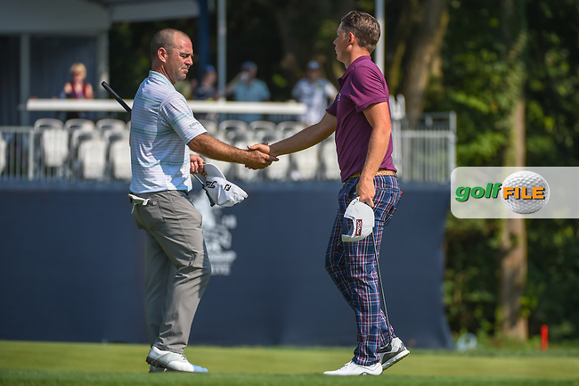 Cameron Smith (USA) shakes hands following 2nd round of the 100th PGA Championship at Bellerive Country Club, St. Louis, Missouri. 8/11/2018.<br /> Picture: Golffile | Ken Murray<br /> <br /> All photo usage must carry mandatory copyright credit (© Golffile | Ken Murray)