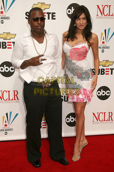 WON G & TANIA GIA.2007 NCLR ALMA Awards at the Pasadena Civic Center,.Pasadena, California, USA,.1st June 2007..full length white shirt sunglasses black trousers.CAP/ADM/BP.©Byron Purvis/AdMedia/Capital Pictures.
