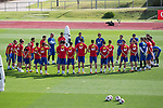 Julen Lopetegui, Gerard Pique, Sergio Ramos, Lucas Vazquez, Marco Asensio, Dani Carvajal, Sergio Busquets, Andres Iniesta, Pepe Reina, Cesar Azpilicueta, Nacho Monreal, Thiago Alcantara during the training of the spanish national football team in the city of football of Las Rozas in Madrid, Spain. August 28, 2017. (ALTERPHOTOS/Rodrigo Jimenez)