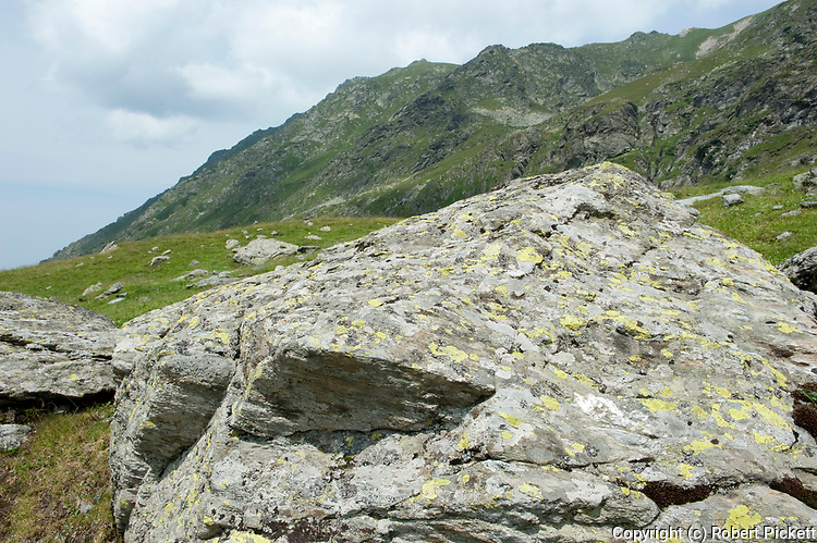 Limestone Rocks, Fagaras Mountains, Transylvanian Carpathians Alps, Romania