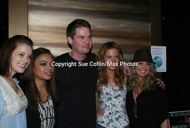 Trent Dawson poses with Marnie Schulenberg, Davida Williams, Meredith and Terri Colombino at Martinis w/Henry for fans wth hors d'oeuvres, autographs, photos, chatting, door gifts on April 18, 2009 at Latitude, New York City, NYC. (Photo by Sue Coflin/Max Photo)