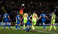 Rochdale's goalkeeper Robert Sanchez catches from a corner kick<br /> <br /> Photographer Andrew Kearns/CameraSport<br /> <br /> The EFL Sky Bet League One - Rochdale v Bolton Wanderers - Saturday 11th January 2020 - Spotland Stadium - Rochdale<br /> <br /> World Copyright © 2020 CameraSport. All rights reserved. 43 Linden Ave. Countesthorpe. Leicester. England. LE8 5PG - Tel: +44 (0) 116 277 4147 - admin@camerasport.com - www.camerasport.com