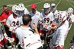Orange, CA 05/01/10 - Chapman coaches and players discuss adjustments during a time out in the third period of play against LMU.
