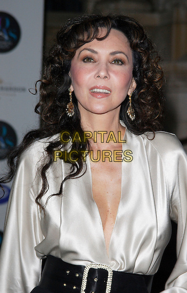 MARIE HELVIN .30 Days of Fashion and Beauty Gala held during London Fashion Week at Natural History Museum, Kensington, London, England, September 16th 2008..half length silver grey gray silk shirt top blouse black belt .CAP/ROS.©Steve Ross/Capital Pictures
