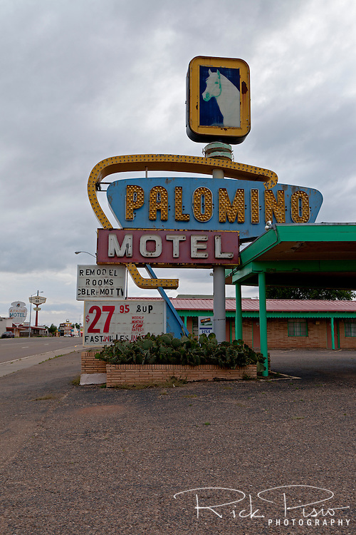 Palamino Motel along Route 66 in Tucamcari, New Mexico.