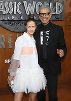 LOS ANGELES, CA - JUNE 12: Emilie Livingston and Jeff Goldblum at Jurassic World: Fallen Kingdom Premiere at Walt Disney Concert Hall, Los Angeles Music Center in Los Angeles, California on June 12, 2018. Credit: Faye Sadou/MediaPunch