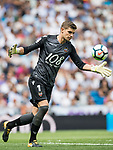 Raul Fernandez-Cavada Mateos of Levante UD in action during the La Liga match between Real Madrid and Levante UD at the Estadio Santiago Bernabeu on 09 September 2017 in Madrid, Spain. Photo by Diego Gonzalez / Power Sport Images