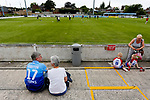 Yorkshire fans watching their team warm up. Yorkshire v Parishes of Jersey, CONIFA Heritage Cup, Ingfield Stadium, Ossett. Yorkshire's first competitive game. The Yorkshire International Football Association was formed in 2017 and accepted by CONIFA in 2018. Their first competative fixture saw them host Parishes of Jersey in the Heritage Cup at Ingfield stadium in Ossett. Yorkshire won 1-0 with a 93 minute goal in front of 521 people.