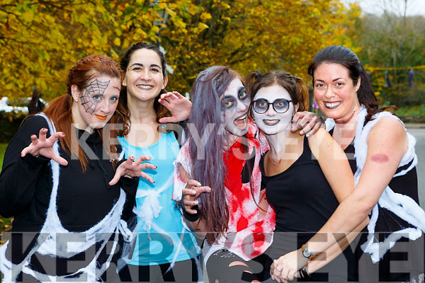 Trisha Insua, Maria Aragon, Verinika Polakova, Lara Martinez and Vero Tirado Killarney at the Killarney Halloween run on Saturday