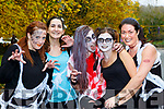 Trisha Insua, Maria Aragon, Verinika Polakova, Lara Martinez and Vero Tirado Killarney at the Killarney Halloween run on Saturday