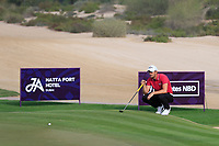 Haydn Porteous (RSA) on the 3rd green during Round 2 of the Omega Dubai Desert Classic, Emirates Golf Club, Dubai,  United Arab Emirates. 25/01/2019<br /> Picture: Golffile | Thos Caffrey<br /> <br /> <br /> All photo usage must carry mandatory copyright credit (© Golffile | Thos Caffrey)