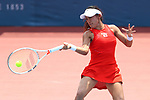 Miyu Kato (JPN), <br /> AUGUST 20, 2018 - Tennis : <br /> Women's Singles Round of 32 <br /> at Jakabaring Sport Center Tennis Court <br /> during the 2018 Jakarta Palembang Asian Games <br /> in Palembang, Indonesia. <br /> (Photo by Yohei Osada/AFLO SPORT)