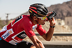 Race leader Greg Van Avermaet (BEL) BMC Racing Team in action during Stage 5 of the 2018 Tour of Oman running 152km from Sam'il to Jabal Al Akhdhar. 17th February 2018.<br /> Picture: ASO/Muscat Municipality/Kare Dehlie Thorstad | Cyclefile<br /> <br /> <br /> All photos usage must carry mandatory copyright credit (&copy; Cyclefile | ASO/Muscat Municipality/Kare Dehlie Thorstad)