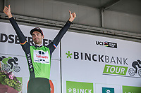 General Classification (GC) winner Tom Dumoulin (NED/Sunweb) on the podium<br /> <br /> Binckbank Tour 2017 (UCI World Tour)<br /> Stage 7: Essen (BE) > Geraardsbergen (BE) 191km