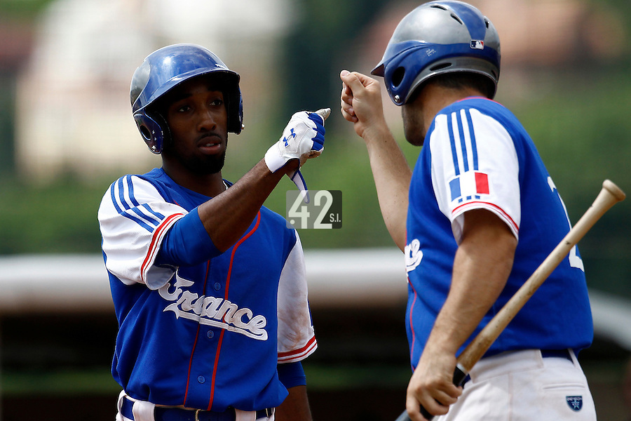 25 June 2011: Felix Brown of Team France is seen during Czech Republic 11-1 win over France, at the 2011 Prague Baseball Week, in Prague, Czech Republic.