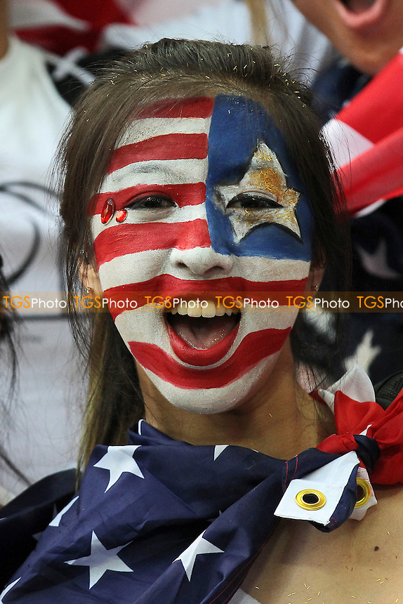USA fans are seen ahead of kick-off - USA Women vs Japan Women - Womens Olympic Football Tournament London 2012 Final at Wembley Stadium - 09/08/12 - MANDATORY CREDIT: Gavin Ellis/SHEKICKS/TGSPHOTO - Self billing applies where appropriate - 0845 094 6026 - contact@tgsphoto.co.uk - NO UNPAID USE.