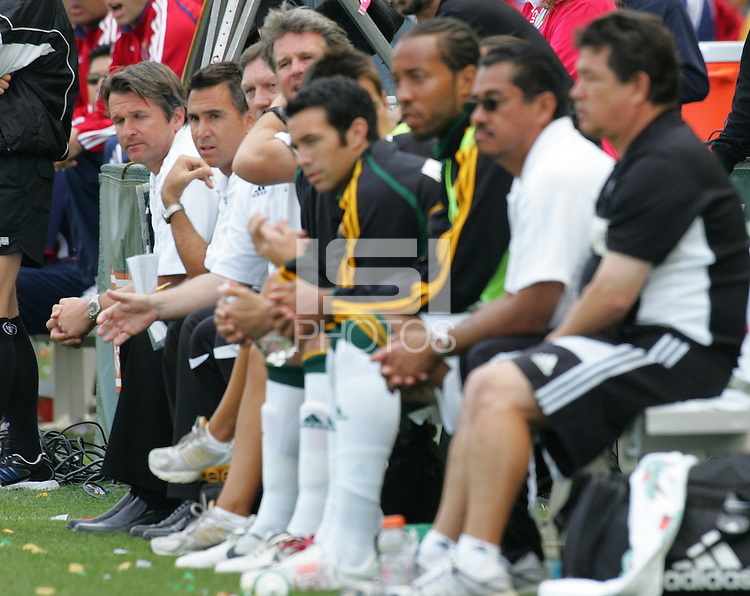 LA Galaxy bench during a MLS game. The LA Galaxy played the Chivas USA to a 1-1 draw at the Home Depot Center in Carson, California, May 20, 2007.