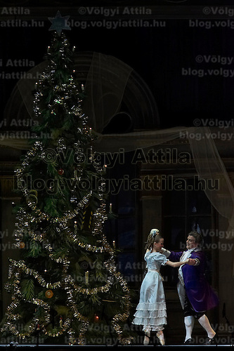 Guest stars Marianna Ryzhkina (left) and Andrei Yevdokimov (not pictured), solists from the Russian Bolsoj dance main roles in The Nutcracker during the christmas holiday performance of the Hungarian National Ballet Company in in Budapest, Hungary on December 22, 2006. ATTILA VOLGYI